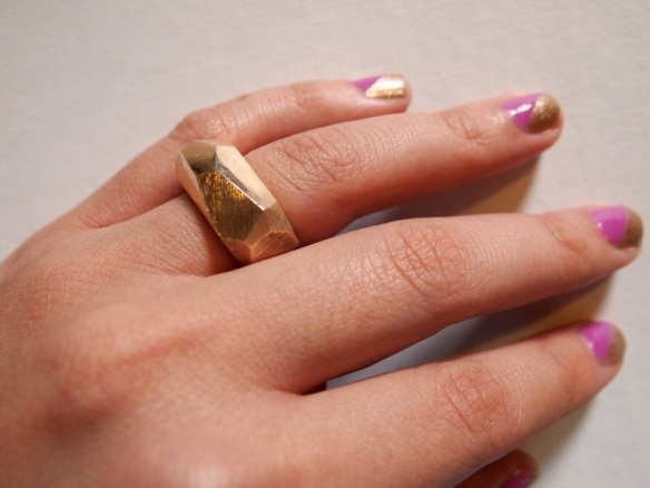 Style Alter Brass Faceted Ring