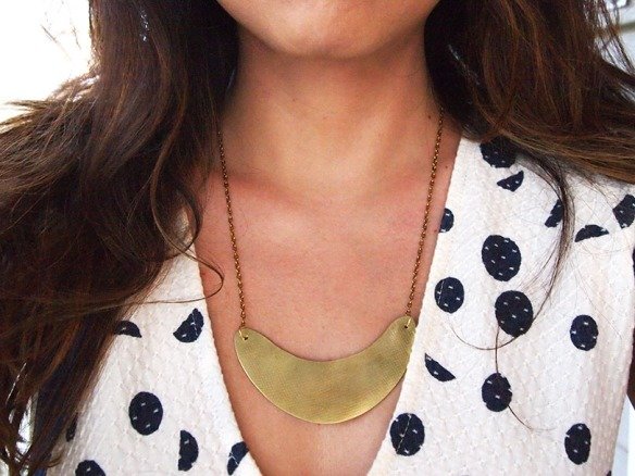 Style Alter Brass Necklace